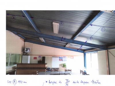 """TRAVAUX CLUB-HOUSE """"PRISE DES MESURES faux-plafond"""