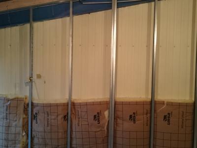 """TRAVAUX CLUB-HOUSE """"structure mur cage d'escalier"""""""