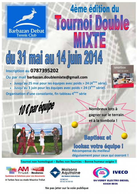 Affiche double mixte 2014